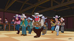 Futurama Leela and the Genestalk Planet Express Crew Line-Dancing.jpg
