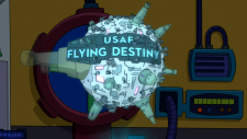 Futurama In-A-Gadda-Da-Leela USAF Flying Destiny.png